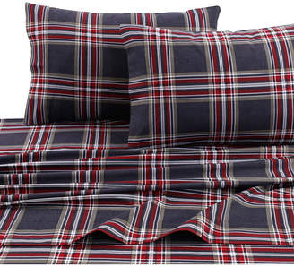 Tribeca Marwah Corporation Living Living Heritage Plaid 5-ounce Flannel Printed Extra Deep Pocket King Sheet Set Bedding