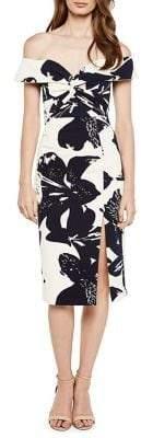Bardot Botanica Off-The-Shoulder Printed Sheath Dress