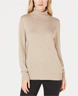 JM Collection Lurex Turtleneck Sweater