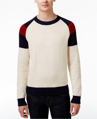 Tommy Hilfiger Men's Colorblocked Cotton Sweater $99 thestylecure.com