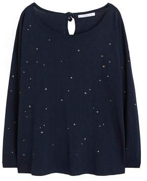 Violeta BY MANGO Glitter stars sweater