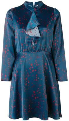 Won Hundred cascade ruffle front fitted waist dress