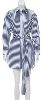 Current/Elliott Striped Button-Up Dress