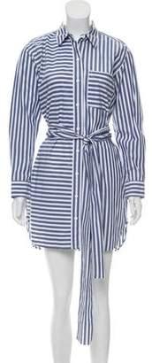 Current/Elliott Striped Button-Up Dress
