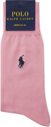 Polo Ralph Lauren Fil d'Ecosse cotton embroidered socks $13 thestylecure.com