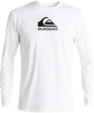 845f527d38c30 Quiksilver Men Solid Streak Logo-Print Rash Guard