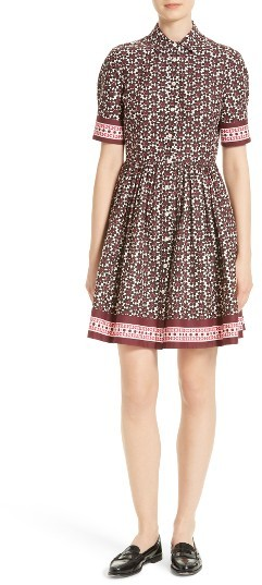 Kate Spade Women's Kate Spade New York Floral Tile Shirtdress