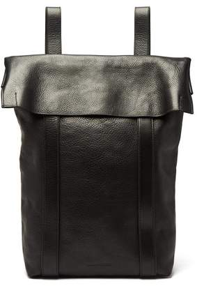 Ann Demeulemeester Andras Grained Leather Backpack - Mens - Black