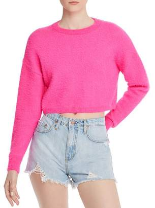Bardot Cropped Fluffy Sweater