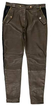 Tommy Hilfiger Mid-Rise Leather Pants