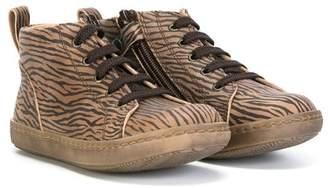 Pépé zebra print hi-top sneakers