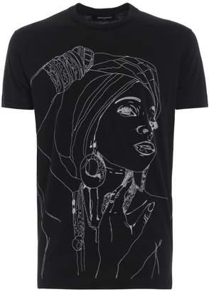 DSQUARED2 Silhouette Print T-shirt