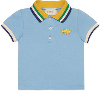 Baby cotton polo with crown $170 thestylecure.com