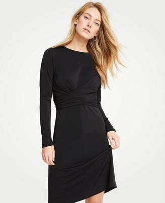 Ann Taylor Petite Wrap Matte Jersey Dress