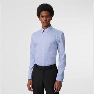 Burberry Modern Fit Double Cuff Cotton Shirt
