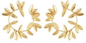 Oscar de la Renta Dot Leaf Earrings