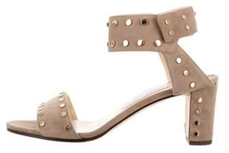 Jimmy Choo Studded Ankle Strap Sandals gold Studded Ankle Strap Sandals