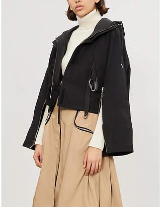 SHOREDITCH SKI CLUB Acer asymmetric shell hooded jacket