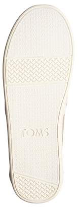 Toms Classic Reindeer Embroidered Faux Fur Lined Slip-On Flat (Little Kid)