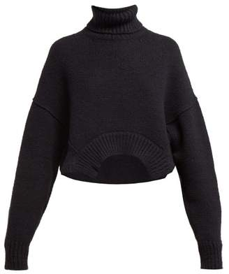 Golden Goose High Neck Sweater - Womens - Navy
