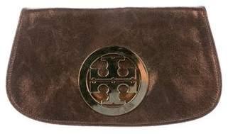 Tory Burch Metallic Leather Reva Clutch