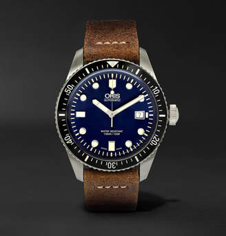 Oris Divers Heritage 65 Automatic 42mm Stainless Steel And Suede Watch