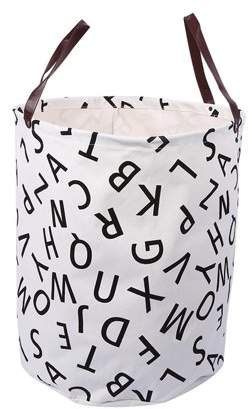 Laundry by Shelli Segal Yosoo YOSOO Canvas handbag basket storage bag with Leather Handles for Kids Room Decor(#7 Letter)