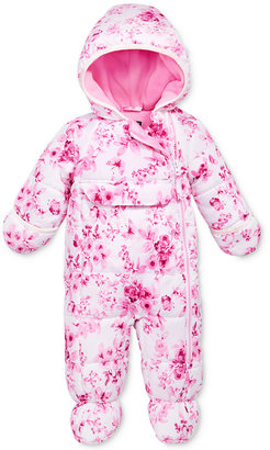 S. Rothschild Baby Girls' Floral-Print Footed Pram Hooded Snowsuit $70 thestylecure.com