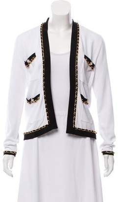 Edward Achour Embellished Open Front Cardigan w/ Tags