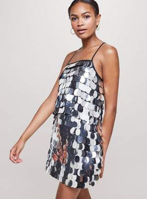 Miss Selfridge Silver sequin skirt