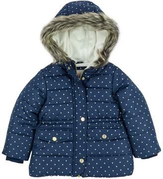 Carter's Baby Girl Heavyweight Navy Gold Dot Jacket
