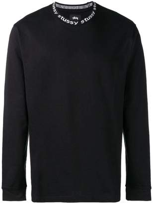 Stussy long-sleeve fitted sweater