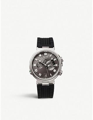 Breguet G5547TIG29ZU Marine Alarm Musicale titanium and leather watch