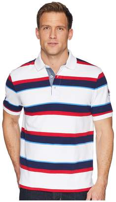Chaps Short Sleeve Stripe Polo Men's Clothing