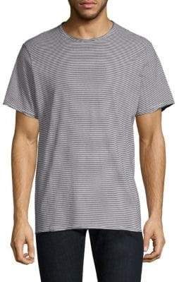 Ovadia & Sons Raw-Edge Striped Tee