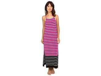 Vince Camuto Sleeveless Magnet Stripe Dress w/ Side Slits Women's Dress