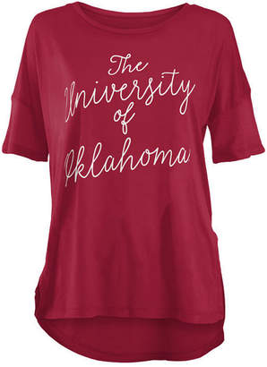 Royce Apparel Inc Women's Oklahoma Sooners Riley Script Modal Crew T-Shirt