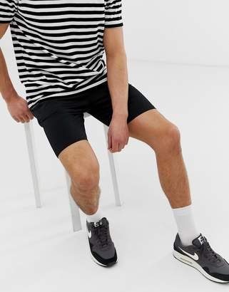 ONLY & SONS drawstring jersey shorts in black