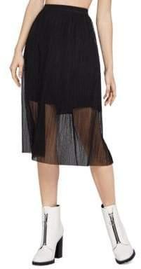 BCBGeneration Mesh Midi Skirt