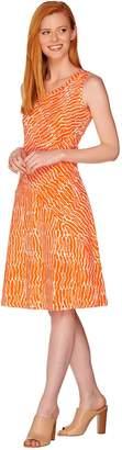 Halston H By H by Regular Printed Knit Tank Dress