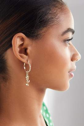 Urban Outfitters Rose Charm Hoop Earring