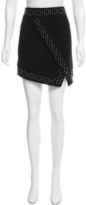 Intermix Embellished Suede Skirt
