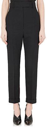 Haider Ackermann Women's Virgin Wool Suiting Piqué High-Waisted Trousers $850 thestylecure.com