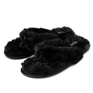 6e0a2ce7c567 Roxoni womens fuzzy slippers  A cozy spa thong flip flop house shoes