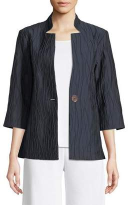 Misook Single-Button Topper Jacket