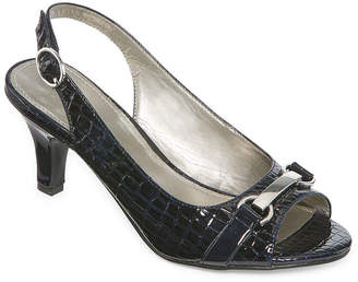 Morgan East Fifth east 5th Womens Pumps Buckle Open Toe Cone Heel