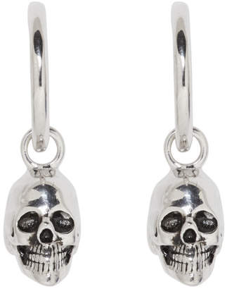 Marc Jacobs Silver Redux Grunge Drop Skull Hoop