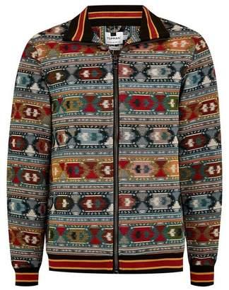 Topman Mens Multi Tapestry Taping Long Sleeve Overshirt