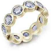 Temple St. Clair Women's Classic Color Sapphire & 18K Yellow Gold Eternity Band Ring
