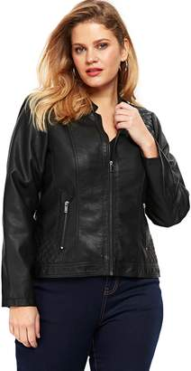 Evans Faux Leather Biker Jacket